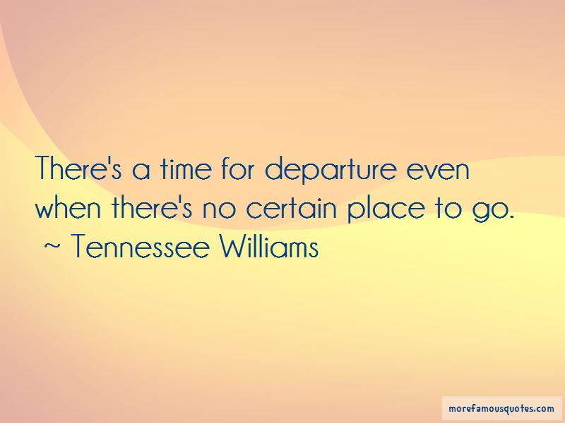 Quotes About Departure