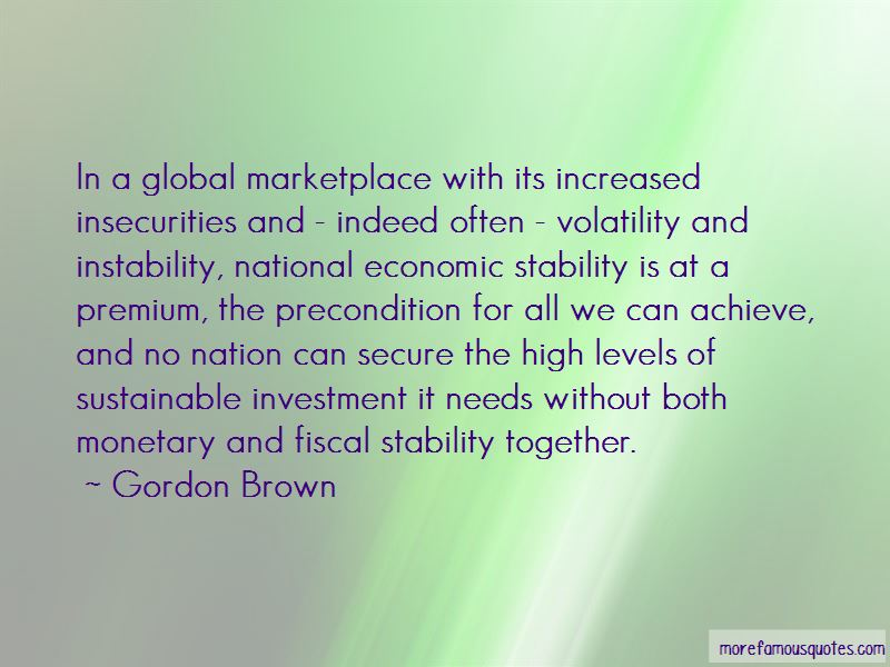 Economic Stability Quotes Pictures 3
