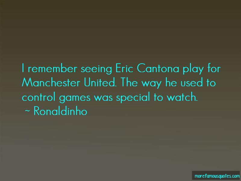Quotes About Eric Cantona