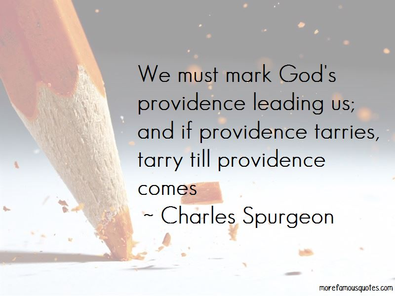 Quotes About God's Providence