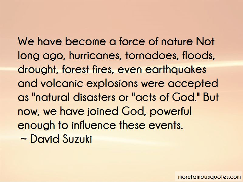 Quotes About Natural Disasters And God