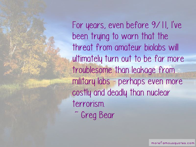 Quotes About Nuclear Terrorism