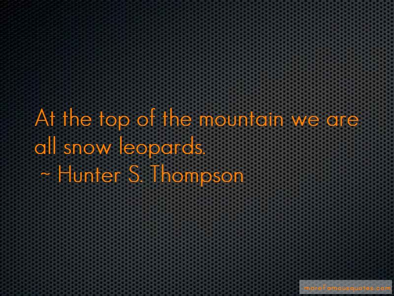 Quotes About Snow Leopards