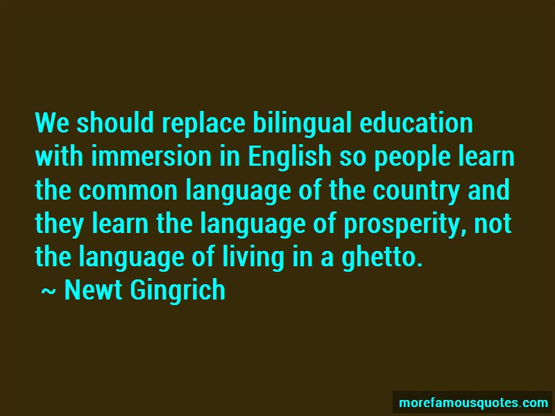 English Immersion Quotes