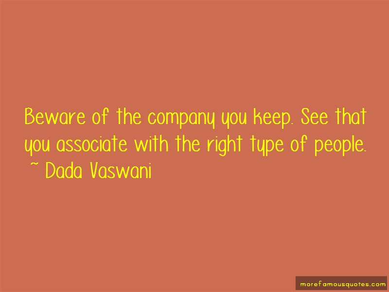 Quotes About Company You Keep