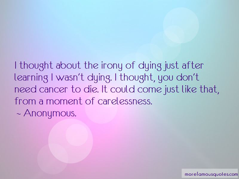 Quotes About Dying Cancer