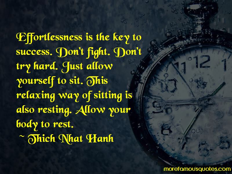 Quotes About Effortlessness