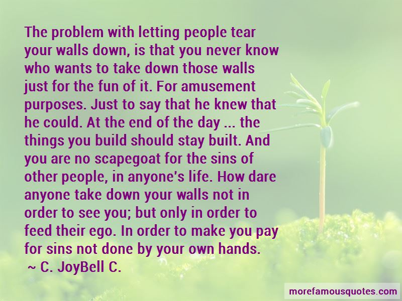 Letting Down Your Walls Quotes Pictures 2