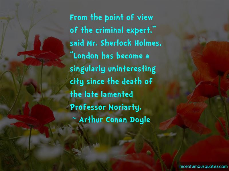 Quotes About Professor Moriarty