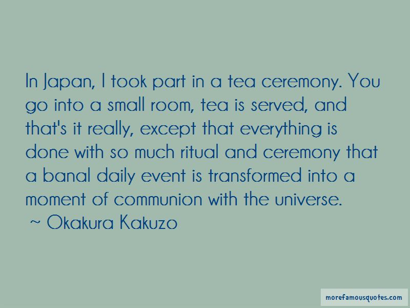 Quotes About Tea Ceremony