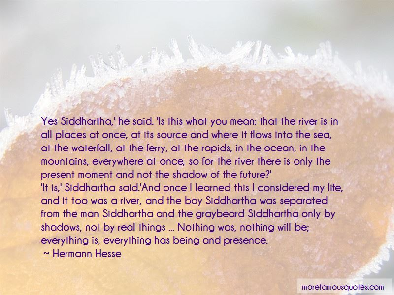 Quotes About The River In Siddhartha