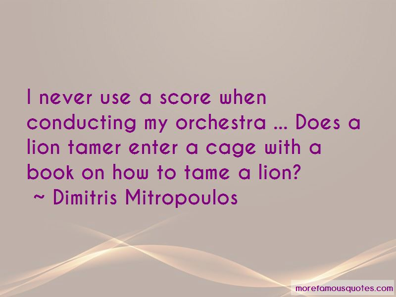 Tame A Lion Quotes Pictures 2