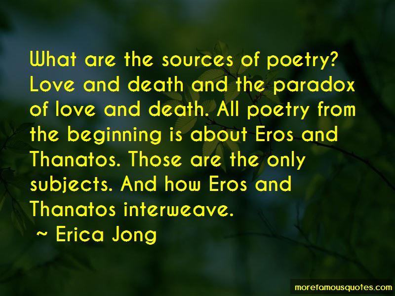 Eros And Thanatos Quotes