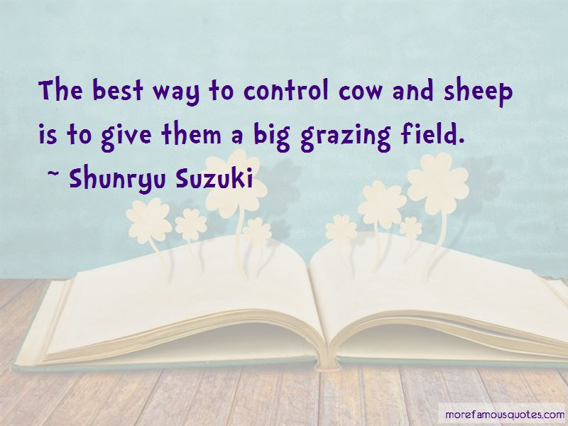 Grazing Cow Quotes