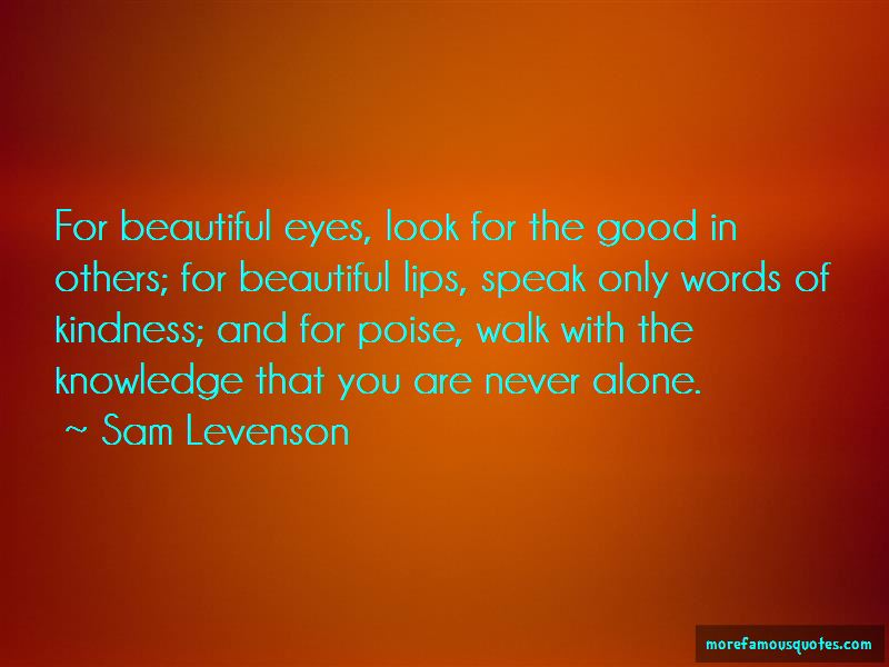 Look For The Good In Others Quotes