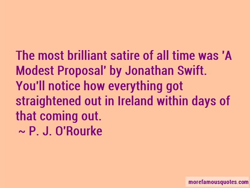 """an overview of the essay a modest proposal by jonathan swift """"a modest proposal"""" by jonathan swift 1 what is satire 2 what do you know about jonathan swift and/or ireland in the 1700s 3 write a short summary of """"a modest proposal""""."""