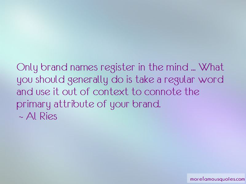 Quotes About Brand Names