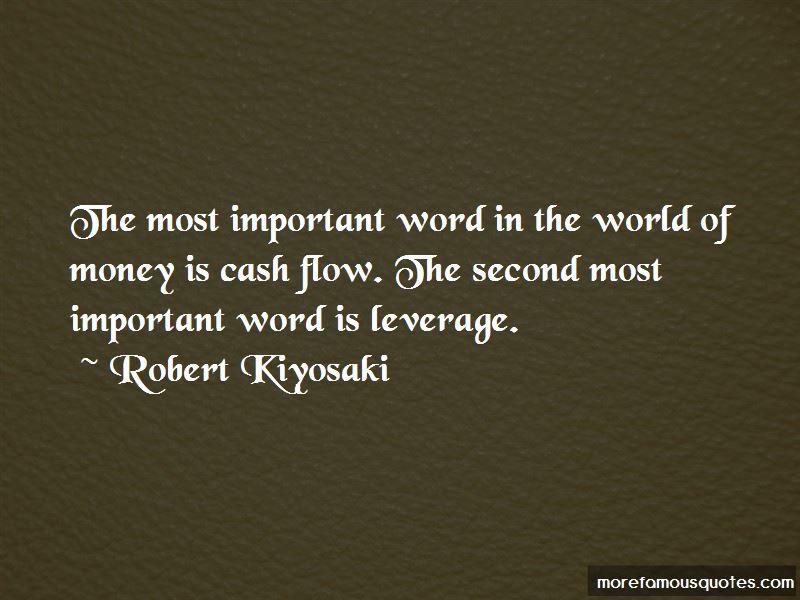 Quotes About Cash Flow