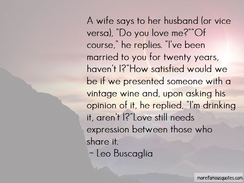 Quotes her needs a what from wife husband What A