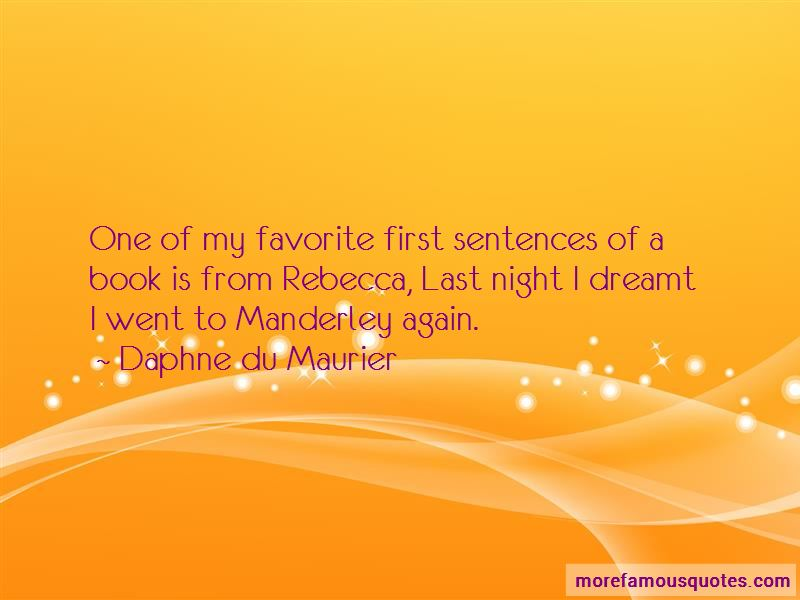 Quotes About Manderley In The Book Rebecca