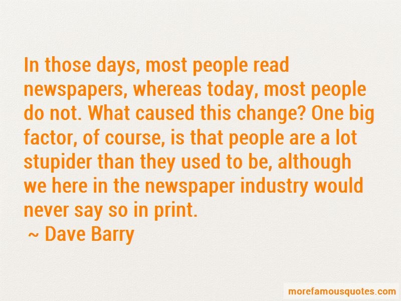Quotes About The Newspaper Industry
