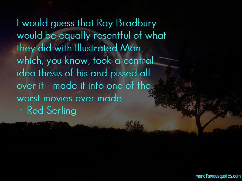 Ray Bradbury Illustrated Man Quotes
