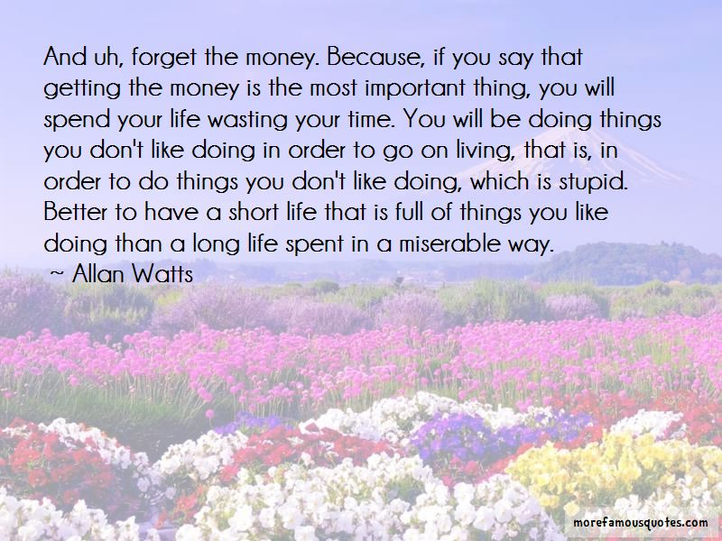 Time Is Important Than Money Quotes