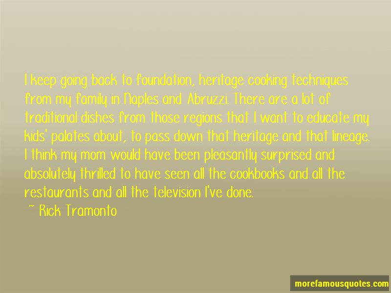 Traditional Dishes Quotes