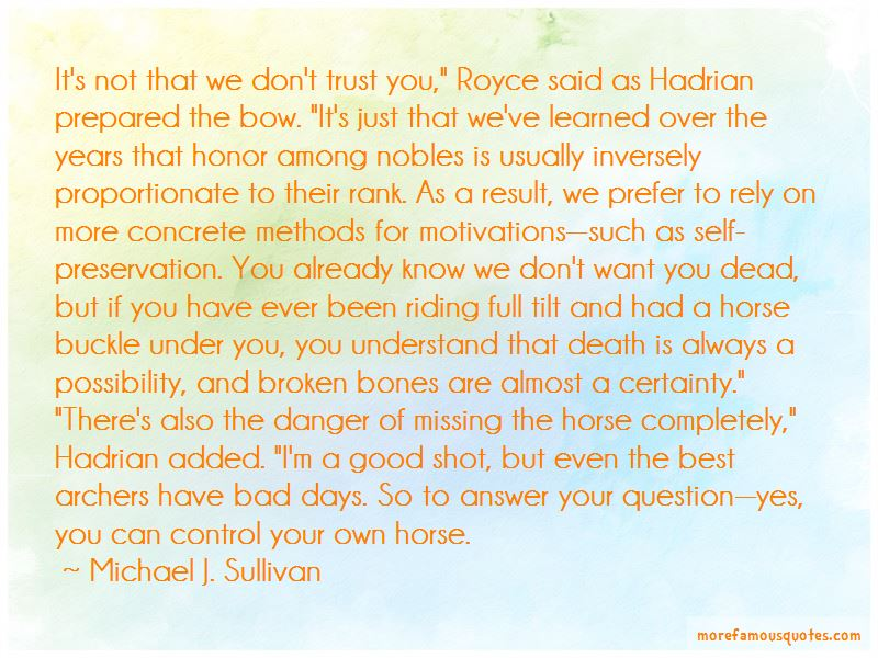 Trust Your Horse Quotes Pictures 2