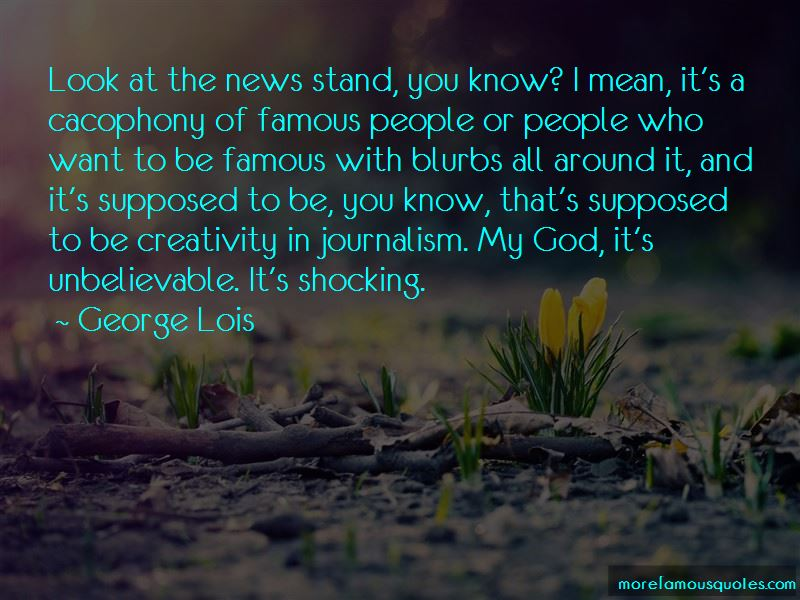 Tv News Famous Quotes