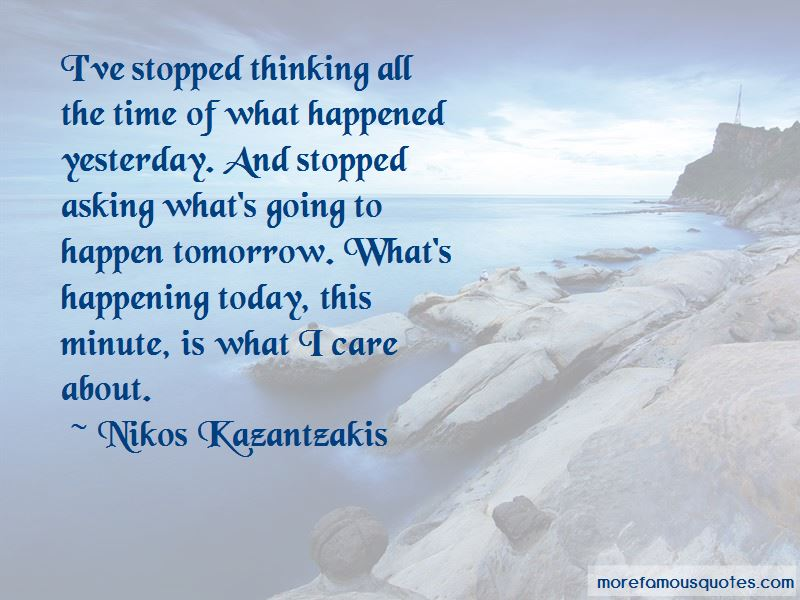 What Happened Yesterday Quotes