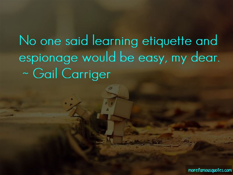 Etiquette And Espionage Quotes