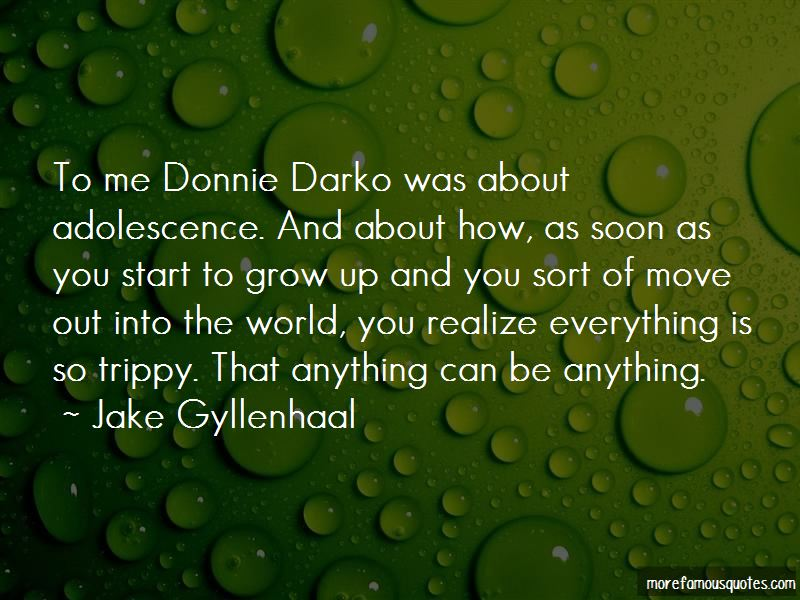Quotes About Donnie Darko: top 7 Donnie Darko quotes from ...