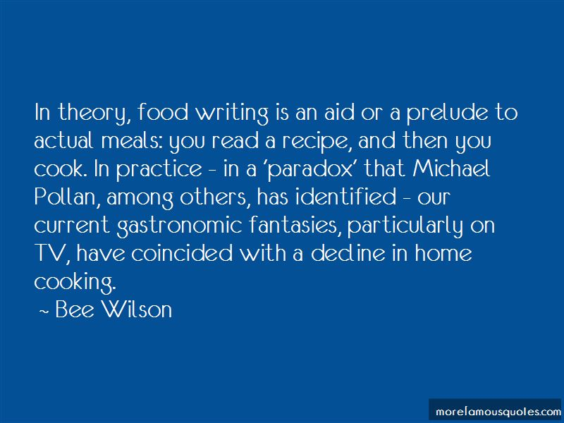 Quotes About Food Writing