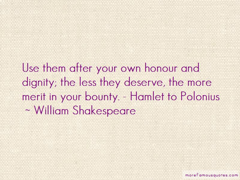 Quotes About Honour In Hamlet