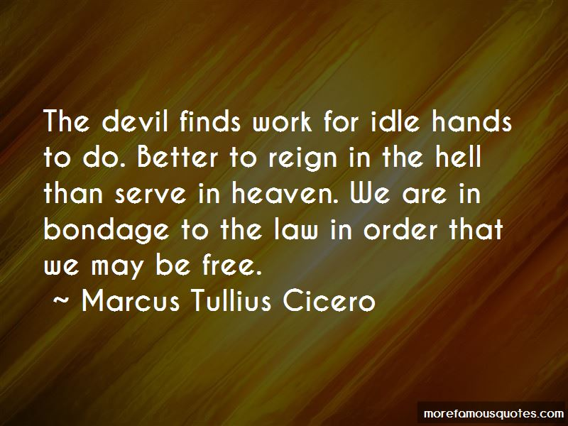 Quotes About Idle Hands & The Devil