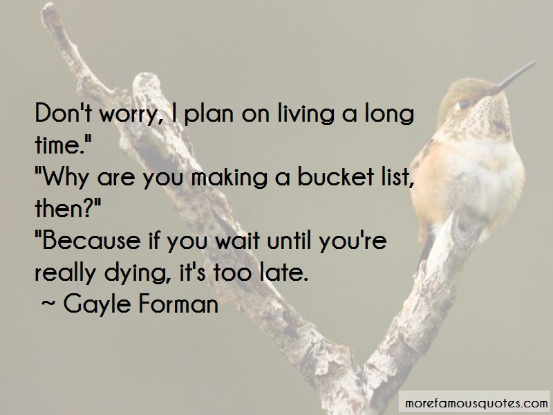 Quotes About Making A Bucket List