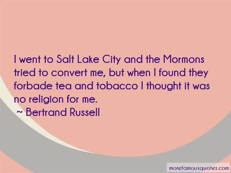 Quotes About Salt Lake City
