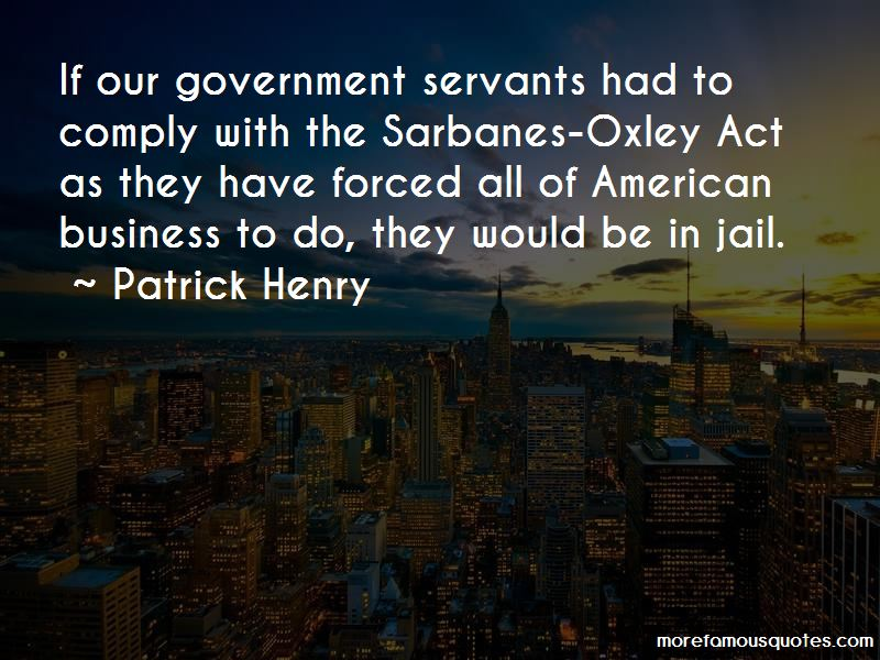 Quotes About Sarbanes Oxley Act