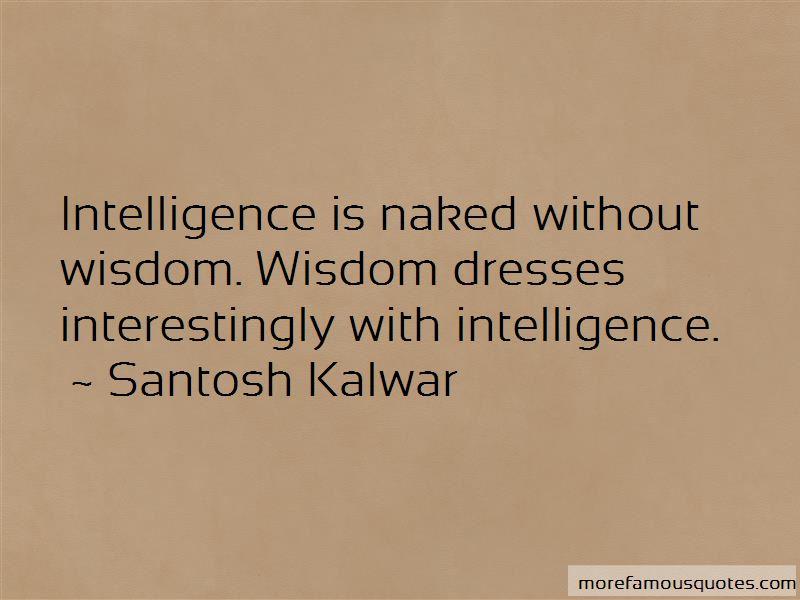 Wisdom Vs Intelligence Quotes Pictures 3
