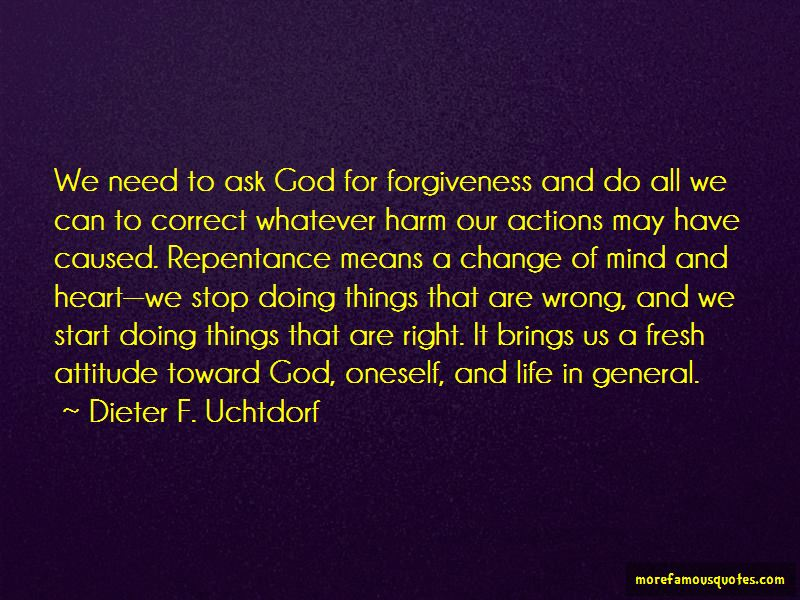 Ask God For Forgiveness Quotes