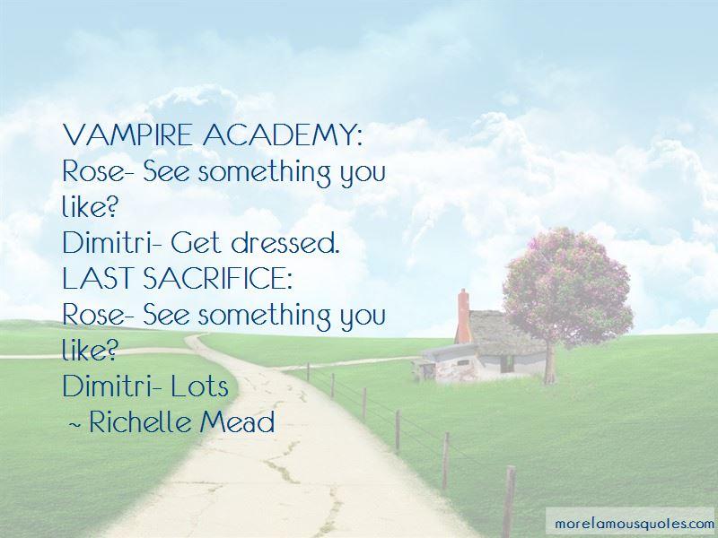 Last Sacrifice Rose And Dimitri Quotes