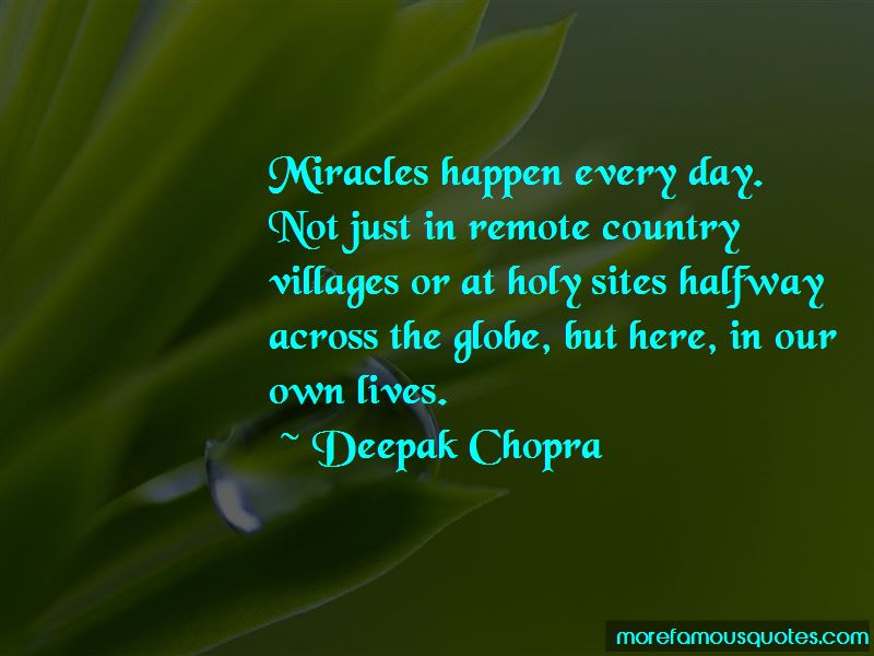 Miracles Happen Quotes