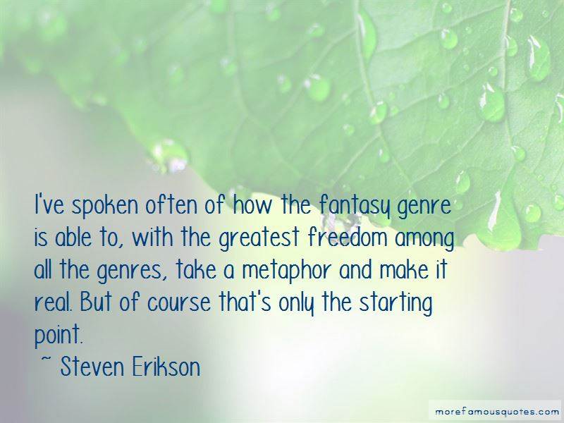 Quotes About Fantasy Genre