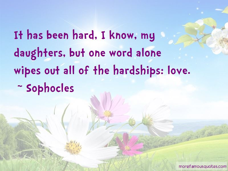 Quotes About Hardships In Love