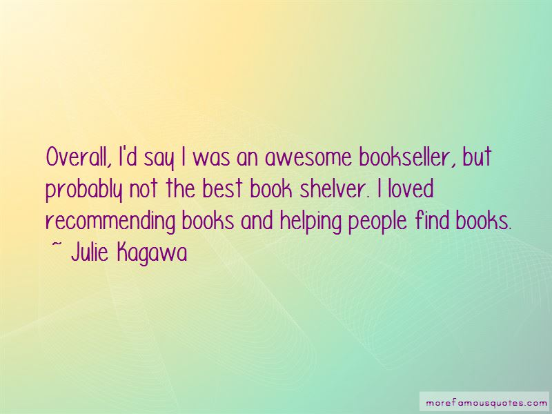 Quotes About Recommending Books
