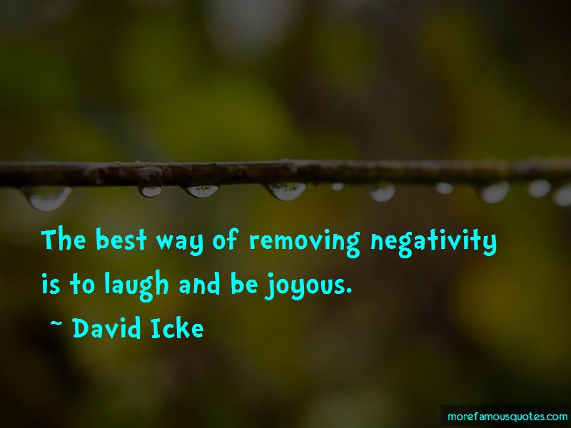 Quotes About Removing Negativity