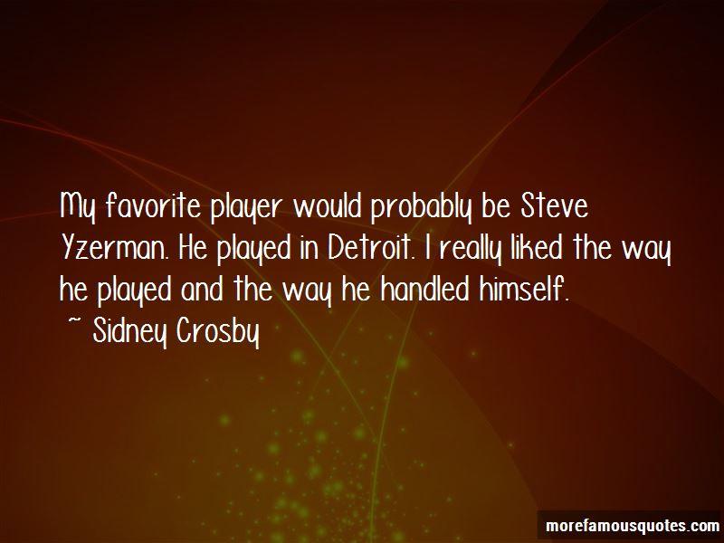 Quotes About Steve Yzerman