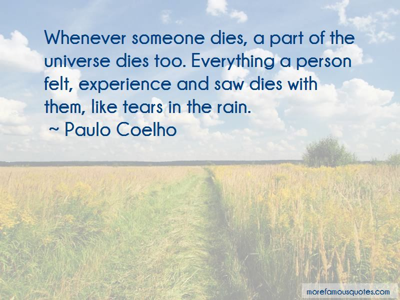 Quotes About Tears In The Rain