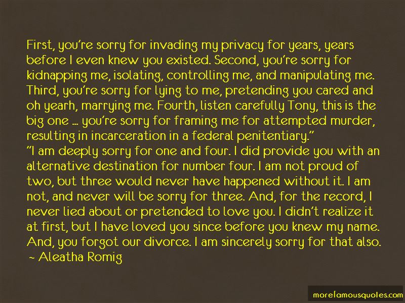 Deeply Sorry Love Quotes